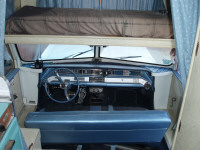 1964 Oldsmobile Jetstar 88 Great Dale House Car - Interior - Front Cab - Slide Out Bed Over Drivers Seat