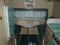 1964 Oldsmobile Jetstar 88 Great Dale House Car - Interior Rear - Mini Fridge - Rear Seating Area and Table Convert to Bed