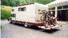 Not Recommended - Custom Rear Motorcycle Rack With 1994 Suzuki GS500E - Now Use A Motorcycle Trailer and/or a Tow Dolly